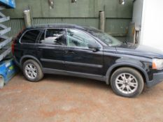 VOLVO 3 LITRE PETROL AUTOMATIC ESTATE CAR WHEN TESTED WAS SEEN TO START AND DRIVE, BATTERY LOW