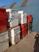 8No tool boxes (No O'Keefe ref) LOT LOCATION: TN14 6EP. OKEEFE STORAGE YARD, 2 Main Road, Sundridge,