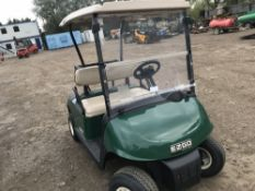 EZGO PETROL ENGINED GOLF BUGGY, WHEN TESTED WAS SEEN TO DRIVE, STEER AND BRAKE..SEE VIDEO