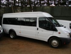 Ford Transit mini bus, 17 seats in total, REG:BD63 OEF previously damaged and repaired, 34,680rec.