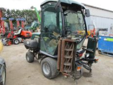 HAYTER GAS POWERED TRIPLE MOWER, LOG BOOK TO APPLY FOR TURNS OVER BUT NOT STARTING…NO GAS??