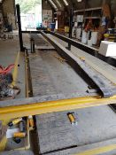 Bradbury 3T Car Lift - 6m long NB: Will be disconnected from the mains supply. Buyer responsible for
