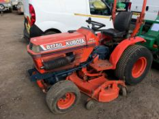 KUBOTA B1750 COMPACT TRACTOR C/W CUTTING DECK SN:62177 WHEN TESTED WAS SEEN TO DRIVE, STEER AND