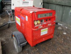 Arcgen Weldmaker 300 AVC towed welder, yr2013 PN: 8049FC SN:1301218 WHEN TESTED WAS SEEN TO RUN