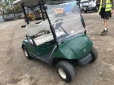 YAMAHA PETROL ENGINED GOLF BUGGY, WHEN TESTED WAS SEEN TO DRIVE, STEER AND BRAKE..SEE VIDEO