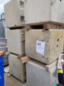 7No Concrete Blocks 750mm cube with location holes