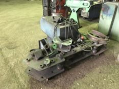 STAFFA 4MB71 LARGE CAPACITY HYDRAULIC METAL TUBE BENDER WITH SOME FORMS AS SHOWN, SOURCED FROM