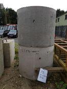 2No Concrete Rings 1000mm diameter x 1000 high