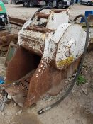 Crusher bucket – Ex Worsley plant (O'Keefe Ref ECR14) Pin Dimension 65mm, Centres 393mm, Width 280mm