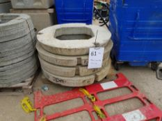 Circular Concrete biscuits - 4No 900mm diameter with 600 x 600 hole. 150mm thick