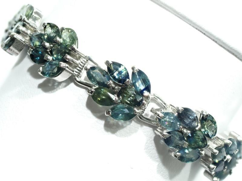 Lot 41 - Sterling Silver Sapphire Bracelet. Retail $800