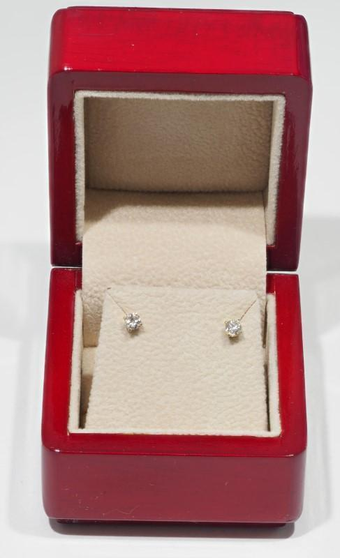 Lot 25 - 14K Yellow Gold Diamond (0.26ct) Stud Earrings. Insurance Value $1100