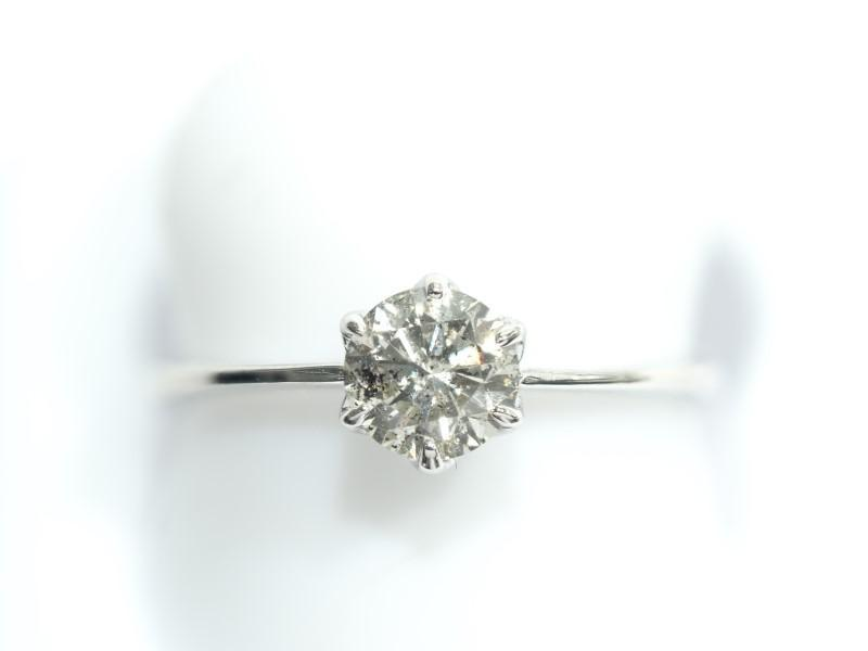 Lot 44 - 14K White Gold Diamond (0.70ct) Solitaire Ring. Insurance Value $5150