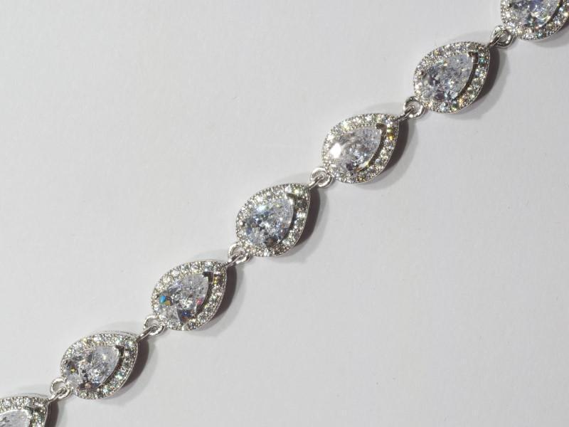 Lot 57 - Sterling Silver Cubic Zirconia Bracelet. Retail $300