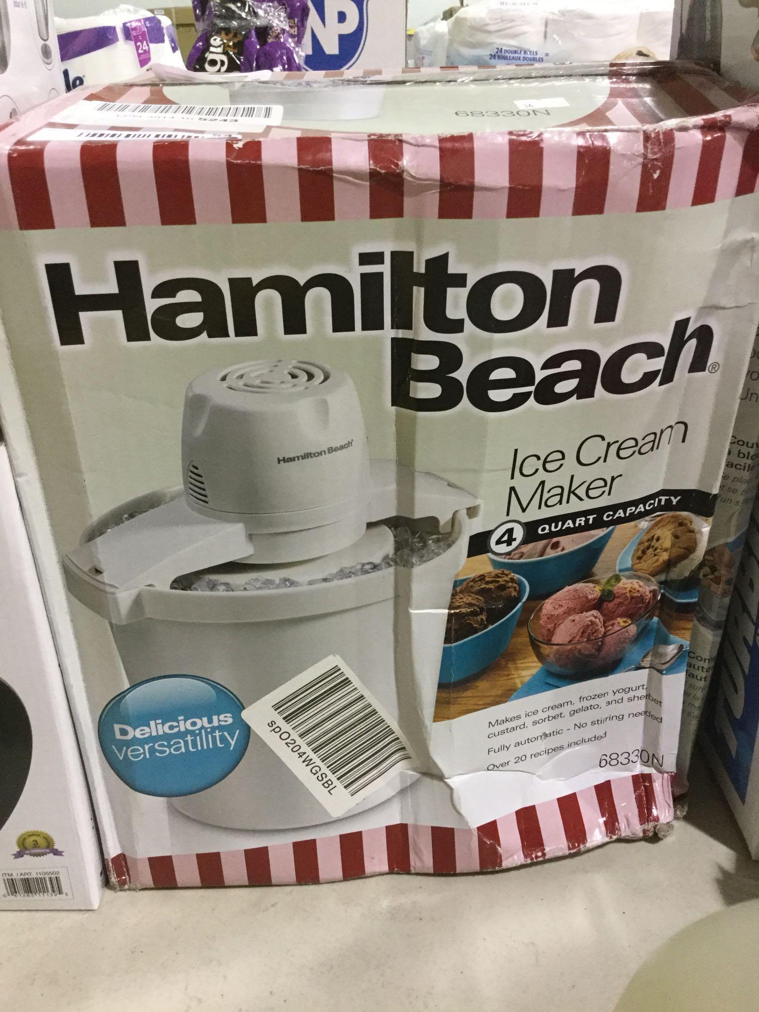 Lot 54 - Hamilton Beach Ice Cream Maker