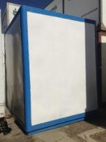 Lot 131 - Storage POD Container with door ( approx. 8x9.5x10) fiberglass and metal construction.stackable.INCL
