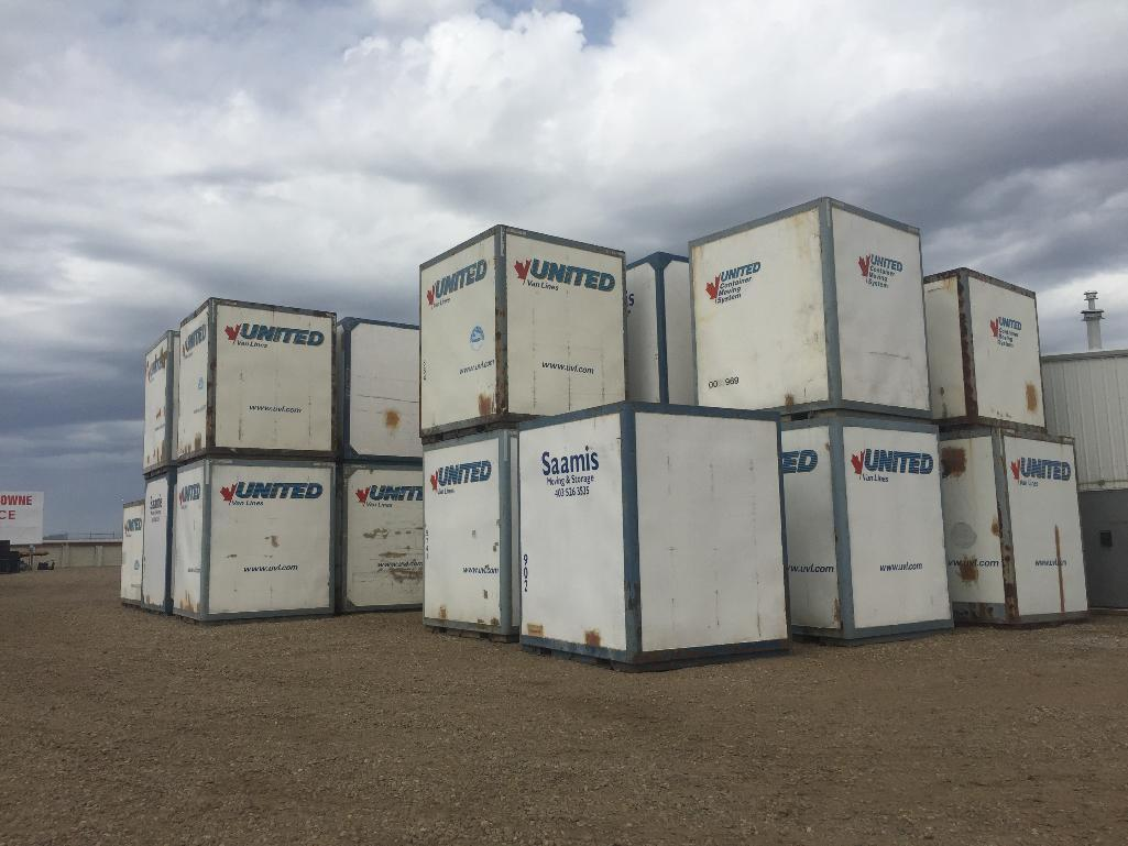 Lot 108 - Storage Container ( 8x9x10approx) includes contents of assorted moving supplies & accessories