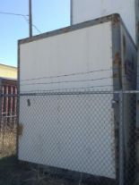 Lot 150 - Storage POD Container with door ( approx. 8x9.5x10) fiberglass and metal construction.stackable.
