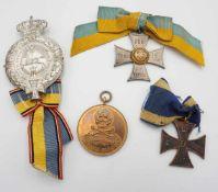 Vier Orden und Abzeichen Braunschweig, 1. Hälfte 20. Jh.1. Weltkrieg, Braunschweig KVK 2. Klasse,
