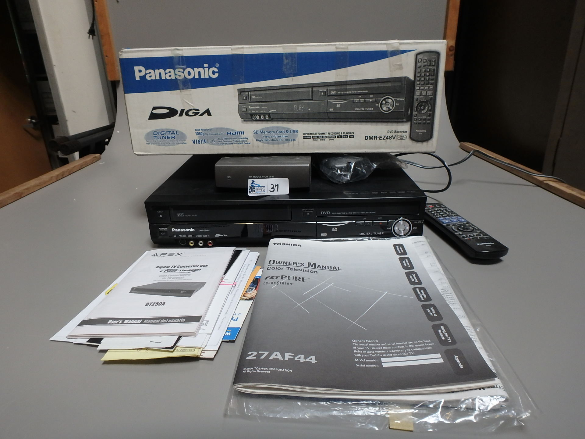 Lot 37 - PANASONIC DVD RECORDER
