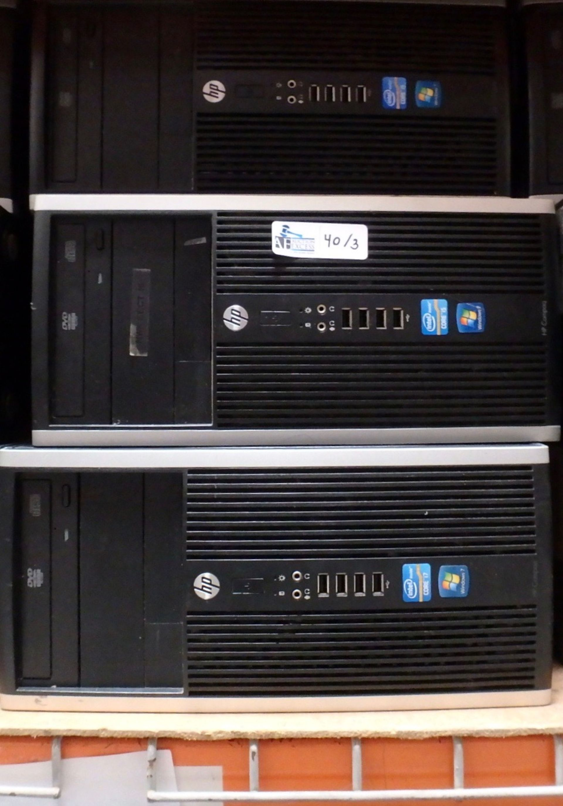 Lot 40 - LOT OF 3 HP COMPUTERS