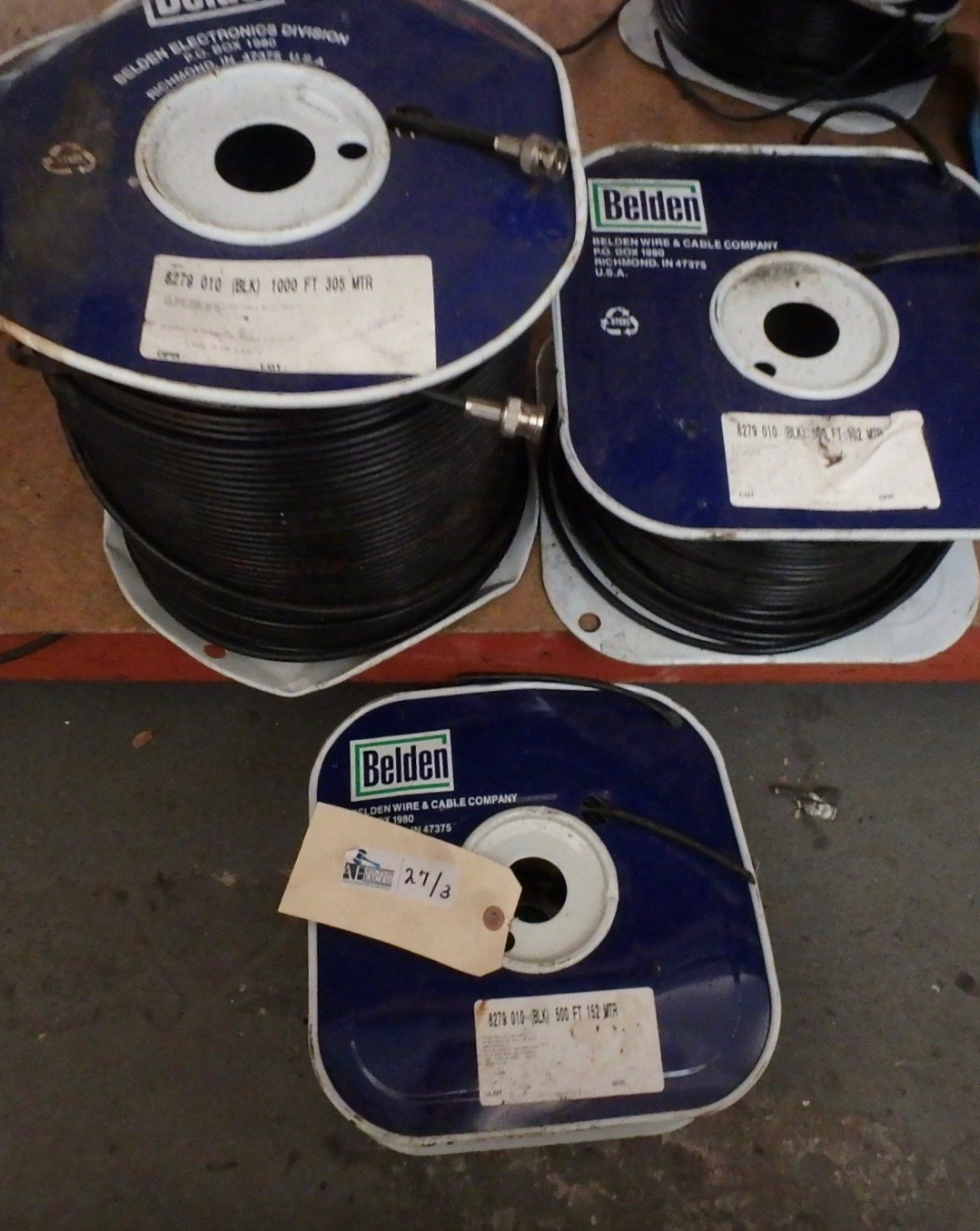 Lot 27 - LOT OF 3 BELDEN SPOOLS