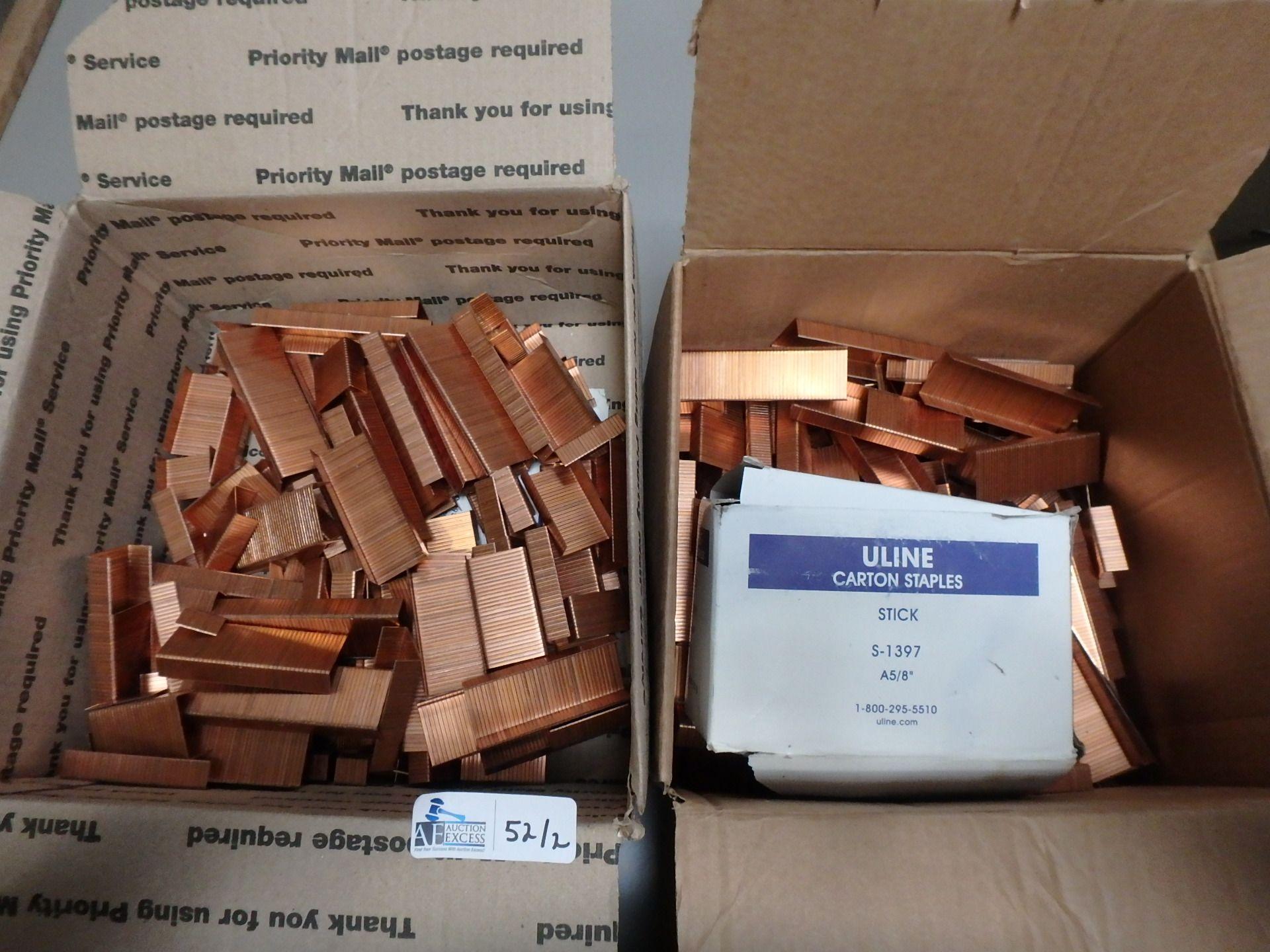 Lot 52 - 2 BOXES STAPLES