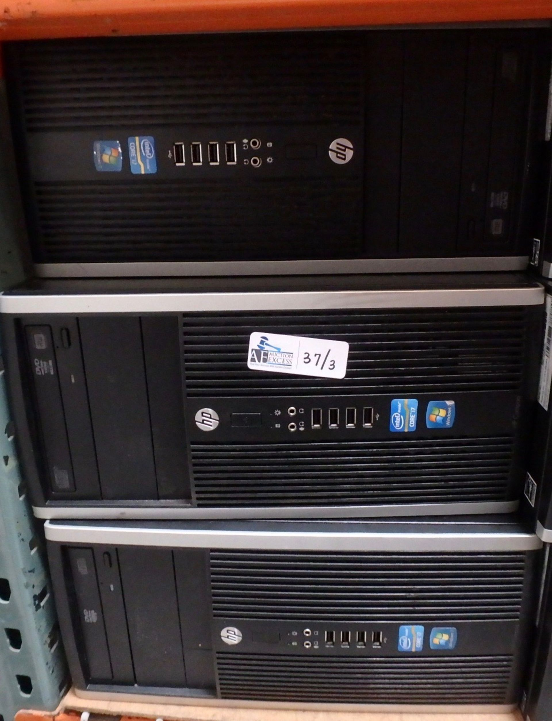 Lot 37 - LOT OF 3 HP COMPUTERS