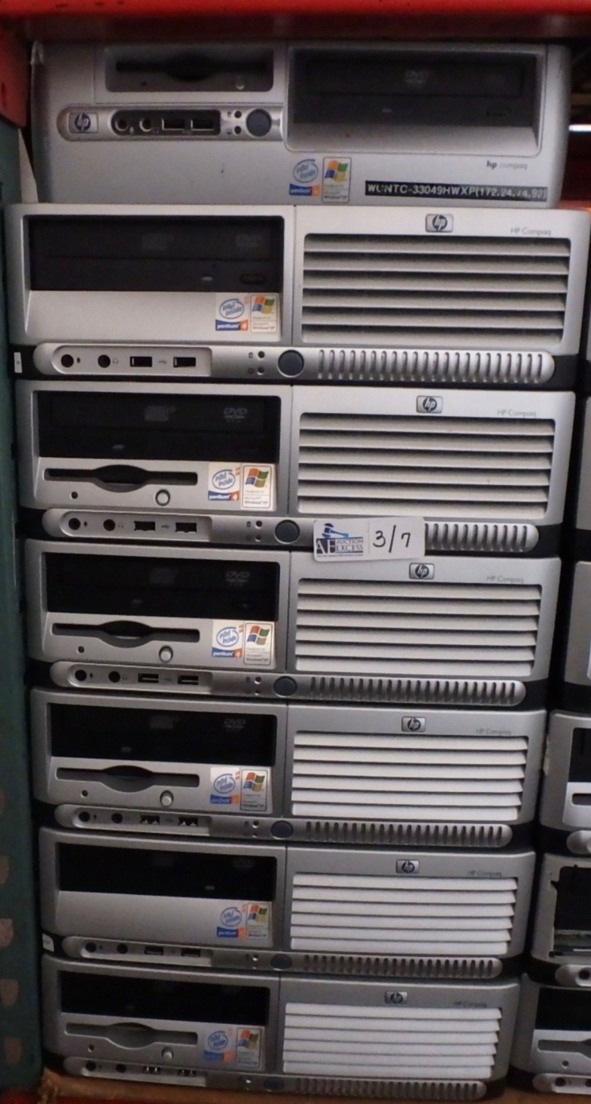 Lot 3 - LOT OF 7 HP COMPUTERS