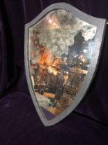 Lot 29 - Shield shaped mirror