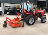Lot 20 - MASSEY FERGUSON TRACTOR MODEL MF1010 WITH MOWER ATTACHMENT