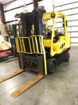 Lot 31 - HYSTER S80FT LP FORKLIFT, 8,000 LB LIFT CAPACITY.