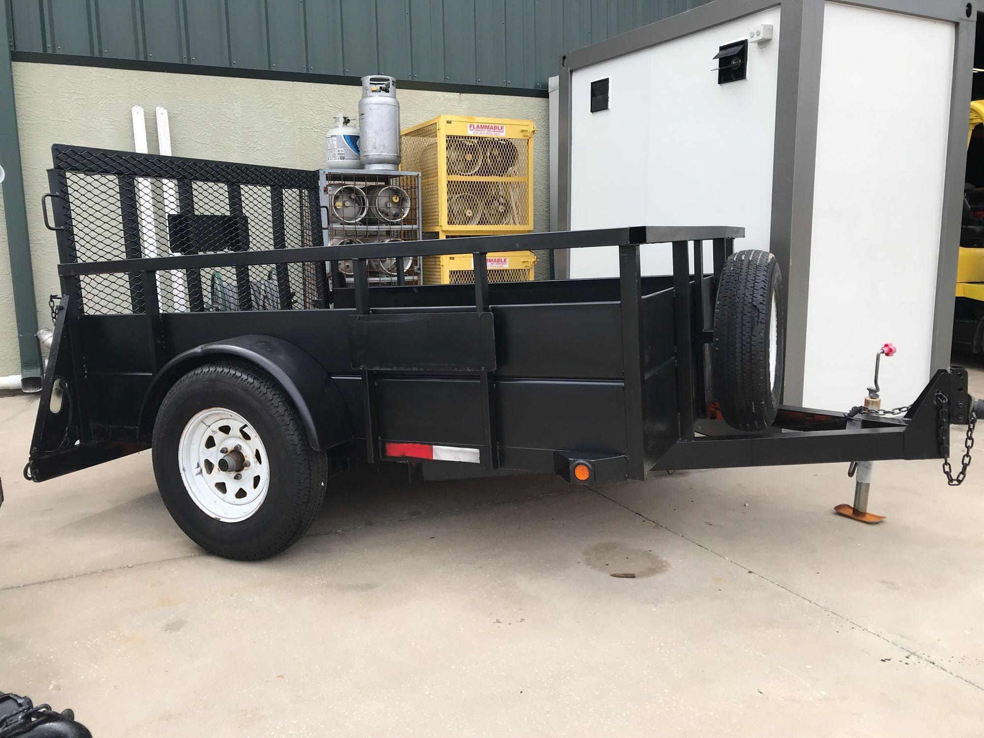 Lot 23 - 2013 ANDE HDLS68 EQUIPMENT TRAILER W/ FOLD DOWN RAMP