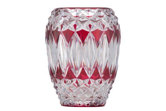 A Val Saint Lambert Ruby Overlay Crystal Vase H 245 Cm