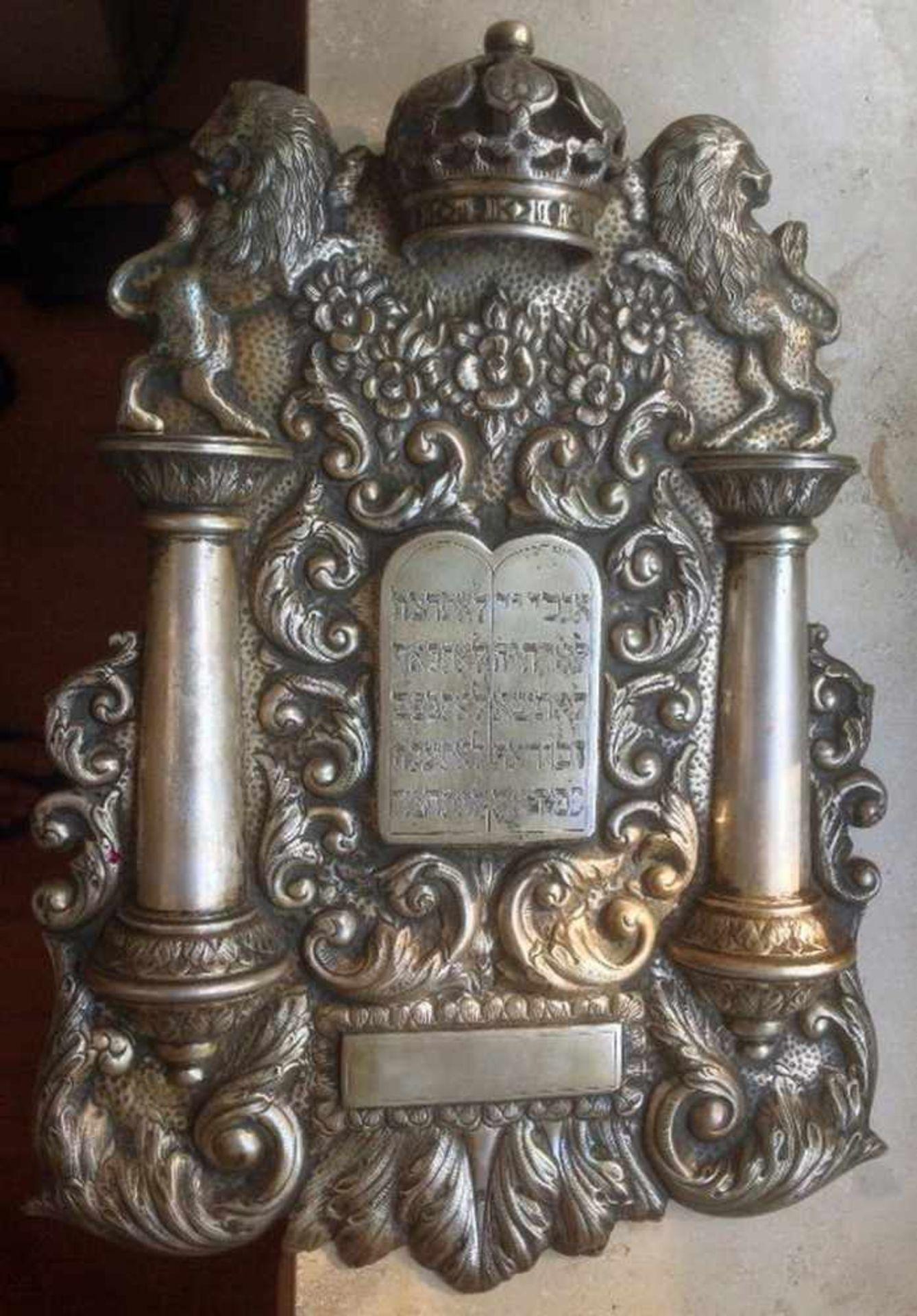 Thoraschild, Deutsch um 1920,Silber 835, Gewicht 1002 g, 39 x 28 cm