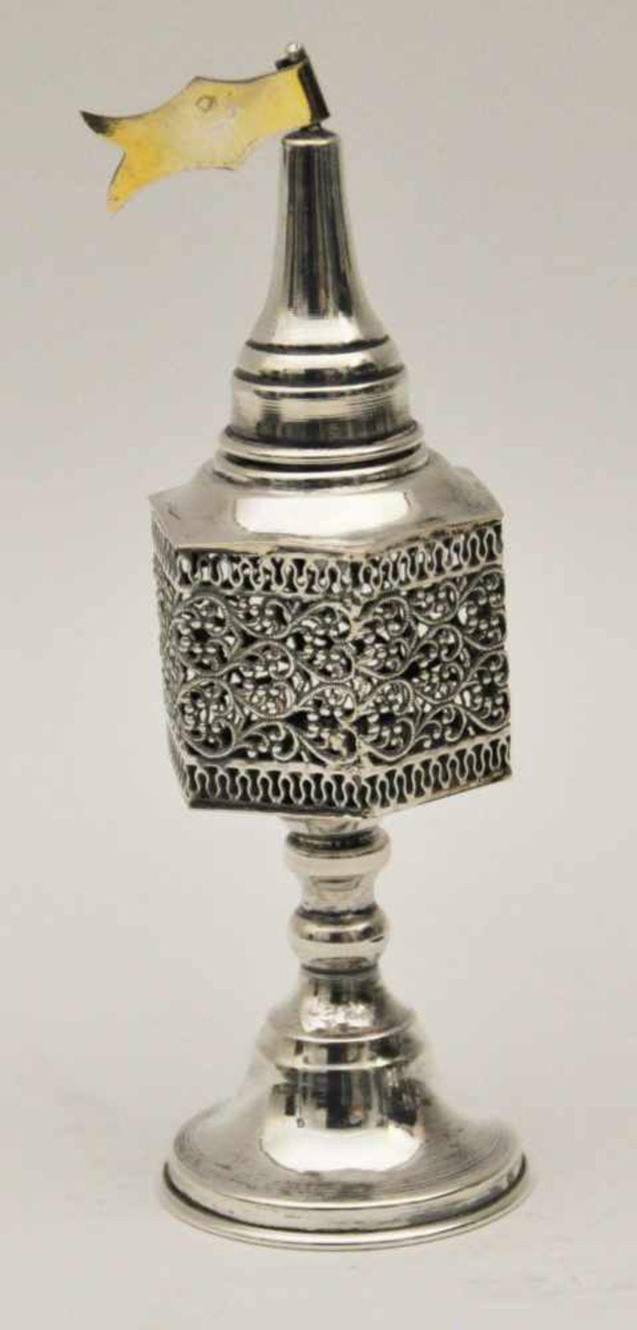 Besamin Türmchen, Deutsch 20. Jh.Silber Nelken Behälter, 925 Silber, Gewicht 33 g