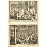 "Picart,, Bernhard (1673 - 1733)""Rosch Haschana und Jom Kipur"", Kupferstich, 35 x 21 cm, links"