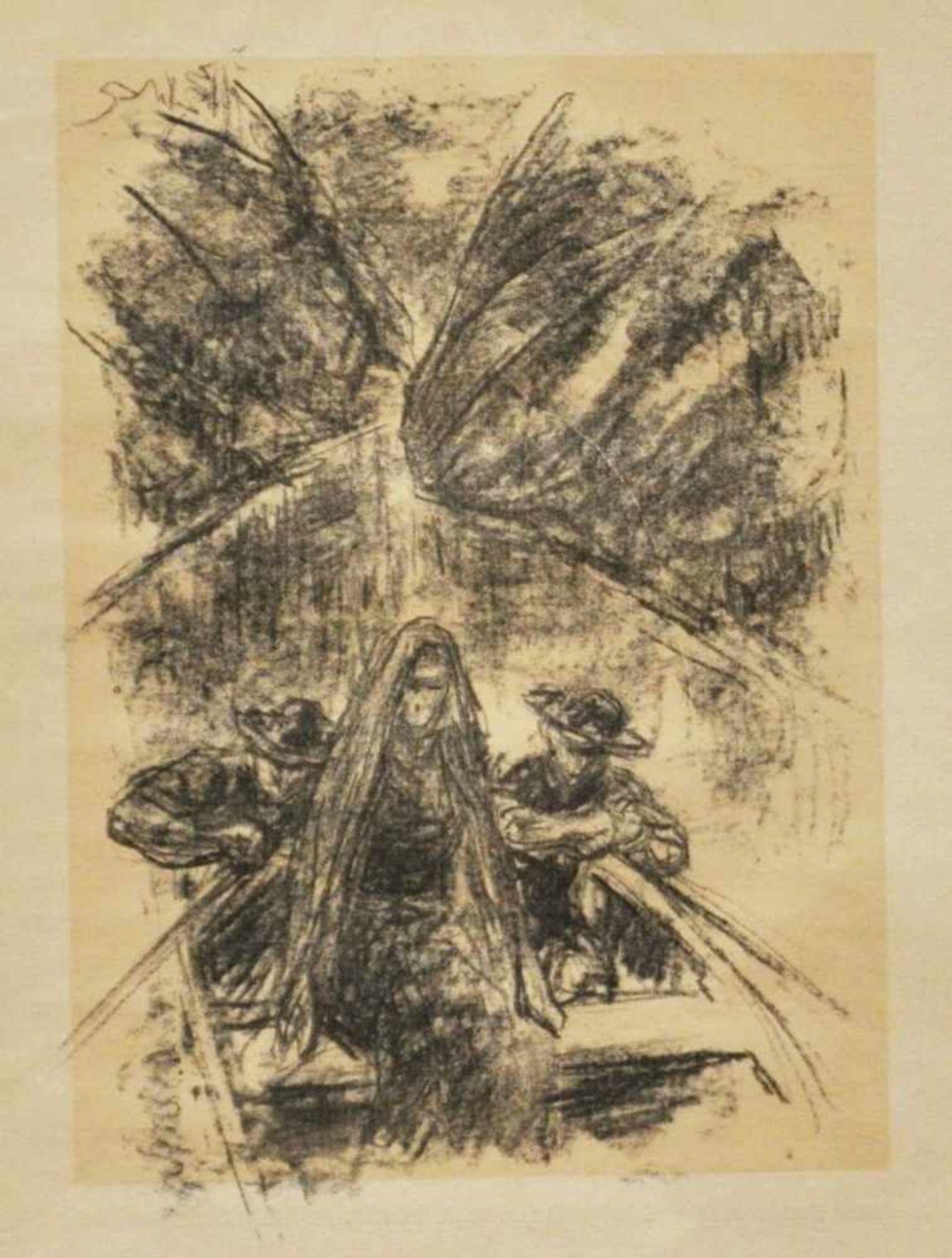 """Los 44 - Liebermann, Max (1847 – 1933)""""Der Rabbbi von Bachrach"""", 1922, 2 Blatt aus dem Buch von H. Heine,"""