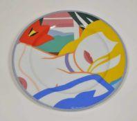 """Künstlerteller für Rosenthal, 1990,Tom Wesselmann (1931-2004), """"Blonde Vivien"""", Entwurf 1988, Dm"""