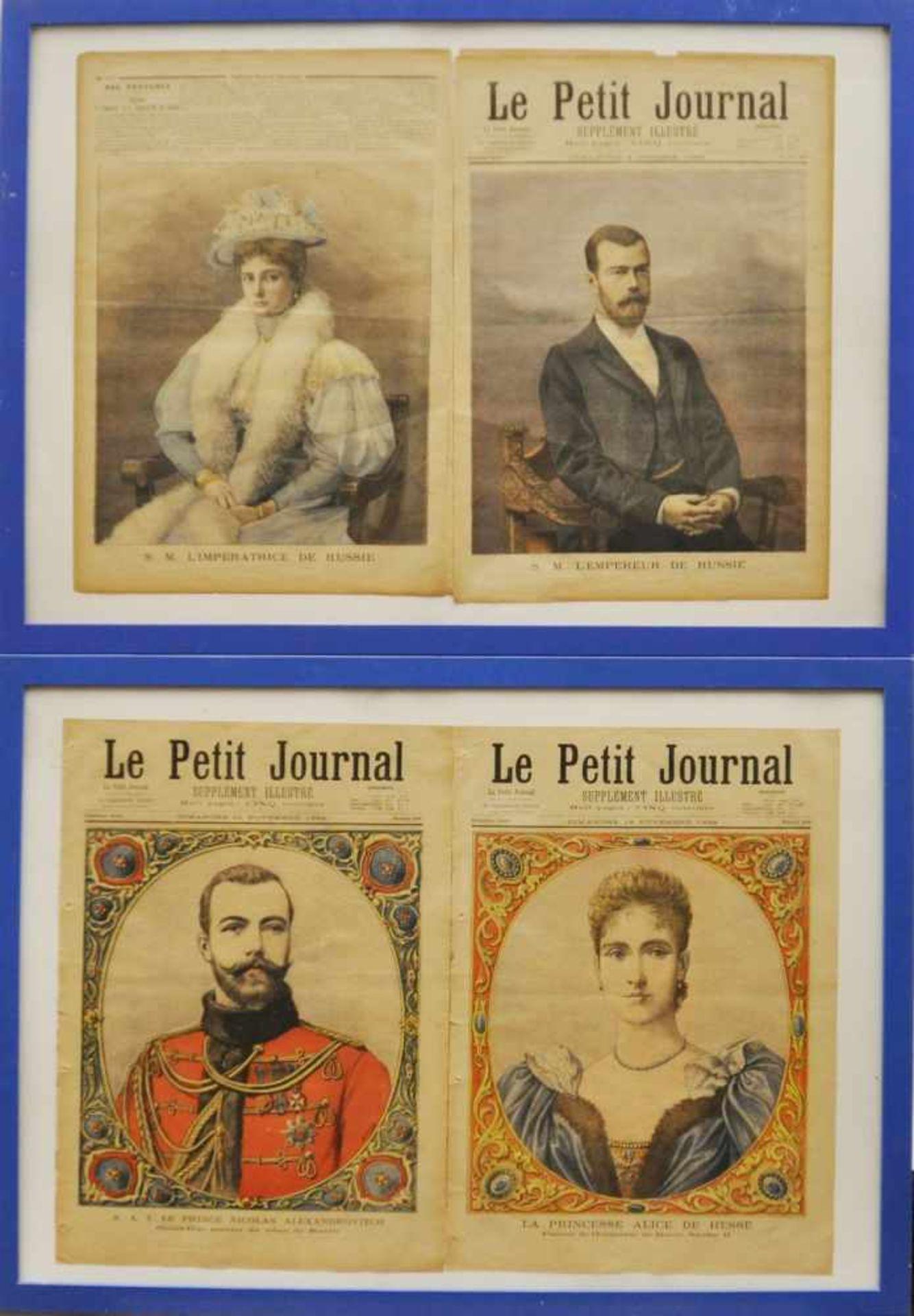 Los 4 - Le Petit Journal, Frankreich 1894/96,Abbildungen von Nicolas Androvitch und Alice von Hessen 1894