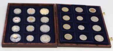 Posten Medaillen24 Stück, Medaillen und Sonderprägungen, dabei Double Eagle 1933 (Copy 2003,