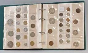 Münzalbum Europaca. 125 Stück, dabei Belgien, Türkei, Niederlande, Spanien, Polen, Italien,