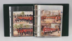 Album Ansichtskarten u.a. Großbritannien15 Stück, dabei Tuck`s Post Card (Uniformen), Valentine`s
