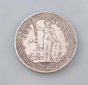 1 Dollar 1911 British Trade DollarVs One Dollar 1911, Rs in Chinesisch und Jawi, D 39 mm, Gewicht