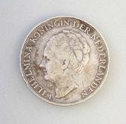 Silber-Münze 1 Gulden 1944 Wilhelmina720er Silber, ca. 10 g, Zustand ss