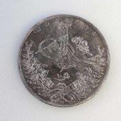 10 Qirsh Abdul Hamid II Ägypten 1884-1907833er Silber, 11 g, Zustand ss-vz