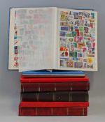 Konvolut Briefmarken alle Welt + Deutschland7 Alben, gemischt + 4 leere Notgeld-Alben und leeres