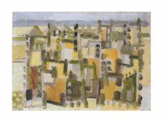 Eduard Bargheer (1901 Finkenwärder/ Elbe - 1979 Hamburg) Cairo, Öl auf Leinwand, 44,5 cm x 58,5