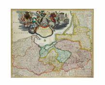 Johann Baptist Homann (1664 Oberkammlach - 1724 Nürnberg) Landkarte von Preußen 'Regnum