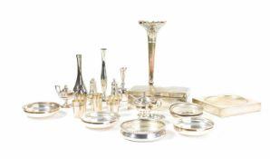 Konvolut Silberobjekte 24-tlg., 11 Teile 925 Silber, davon 5 Teile England, 2 Teile 835 Silber, 11